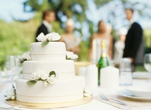 close-up of a wedding cake